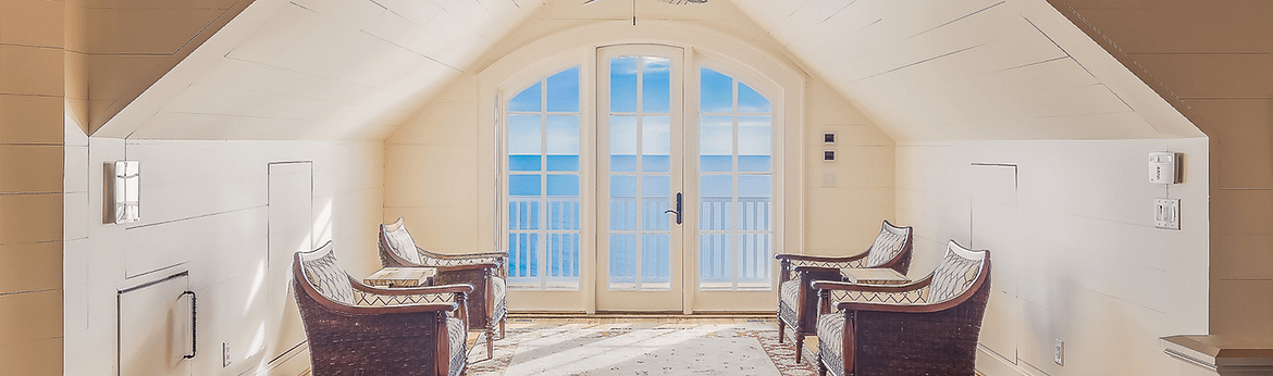 a room with window
