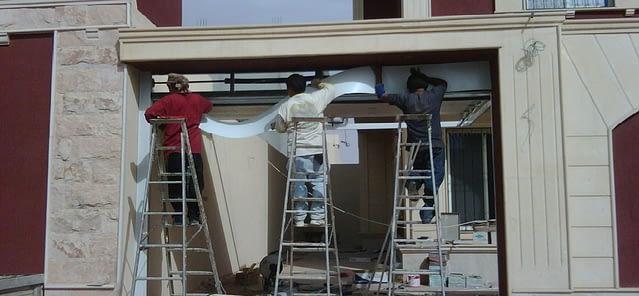 guys installing garage door