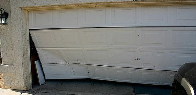 garage door was damage